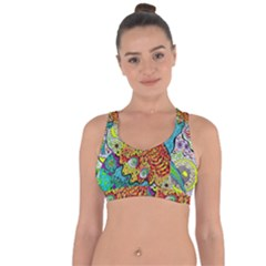 Supersonic Lavahead Lizard Cross String Back Sports Bra by chellerayartisans