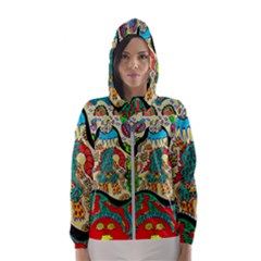 Supersonic Volcanic Sunmoon Faces Hooded Windbreaker (women) by chellerayartisans