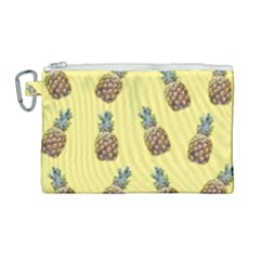 Pineapples Fruit Pattern Texture Canvas Cosmetic Bag (large) by Simbadda