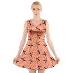 Starfish And Sea Shells Final V Neck Sleeveless Dress by Seashineswimwear