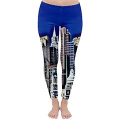Las Vegas Strip Style Classic Winter Leggings by CrypticFragmentsDesign