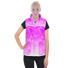 Low Poly Triangle Pattern Women s Button Up Vest