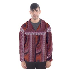 Petals Pattern Design Texture Hooded Windbreaker (men) by Wegoenart