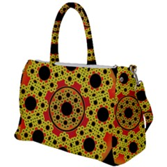 Fractal Art Design Pattern Fractal Duffel Travel Bag by Wegoenart