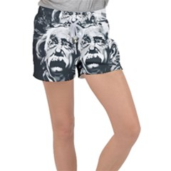 Albert Einstein Street Art Women s Velour Lounge Shorts by Wegoenart