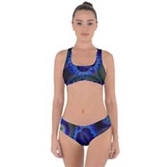 Kaleidoscope Art Pattern Ornament Criss Cross Bikini Set by Wegoenart