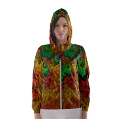 Background Color Template Abstrac Hooded Windbreaker (women) by Wegoenart