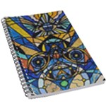 Sirian Solar Invocation Grid - 5.5  x 8.5  Notebook New