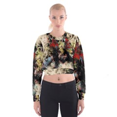 Ara Bird Parrot Animal Art Cropped Sweatshirt by Wegoenart