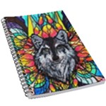 Wolf - 5.5  x 8.5  Notebook New