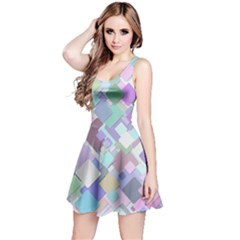 Colorful Background Multicolored Reversible Sleeveless Dress