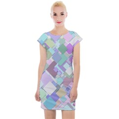 Colorful Background Multicolored Cap Sleeve Bodycon Dress by Bejoart