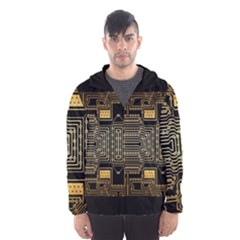 Board Digitization Circuits Hooded Windbreaker (men) by Bejoart