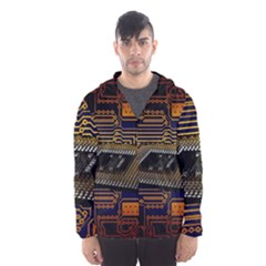 Processor Cpu Board Circuits Hooded Windbreaker (men) by Bejoart