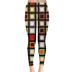 Squares Colorful Texture Modern Art Leggings