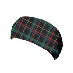 Plaid Tartan Checks Pattern Yoga Headband by Wegoenart