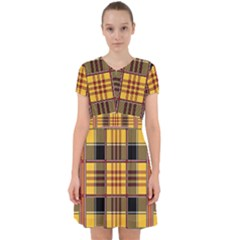 Plaid Tartan Scottish Yellow Red Adorable In Chiffon Dress by Wegoenart