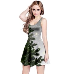 Christmas Fir Tree Mockup Star Reversible Sleeveless Dress by Wegoenart
