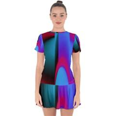 Abstract Art Abstract Background Drop Hem Mini Chiffon Dress by Wegoenart