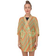 Geometric Art Abstract Background Half Sleeve Chiffon Kimono by Wegoenart