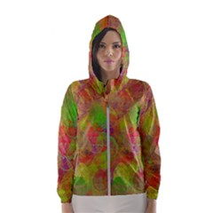 Easter Egg Colorful Texture Hooded Windbreaker (women) by Wegoenart