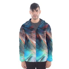 Background Art Abstract Watercolor Hooded Windbreaker (men)