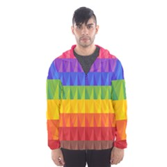 Abstract Pattern Background Hooded Windbreaker (men) by Wegoenart