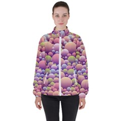 Abstract Background Circle Bubbles High Neck Windbreaker (women) by Wegoenart