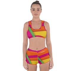 Background Abstract Racerback Boyleg Bikini Set by Wegoenart