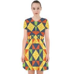 Background Geometric Color Adorable In Chiffon Dress by Wegoenart