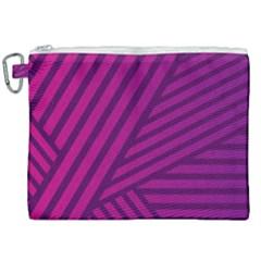 Pattern Lines Stripes Texture Canvas Cosmetic Bag (xxl) by Wegoenart
