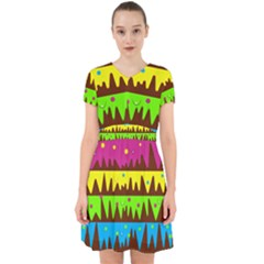 Illustration Abstract Graphic Adorable In Chiffon Dress by Wegoenart