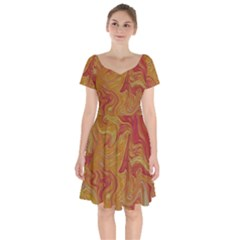 Texture Pattern Abstract Art Short Sleeve Bardot Dress by Wegoenart