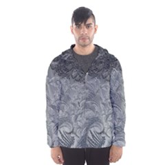 Abstract Ice Frost Crystals Frozen Hooded Windbreaker (men) by Wegoenart