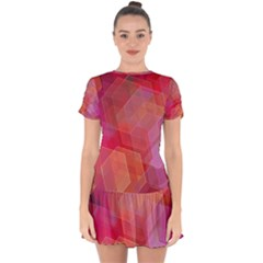 Abstract Background Texture Drop Hem Mini Chiffon Dress by Wegoenart