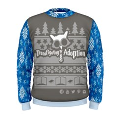 Ugly Christmas Sweat Print   Blue by TransfiguringAdoptionStore