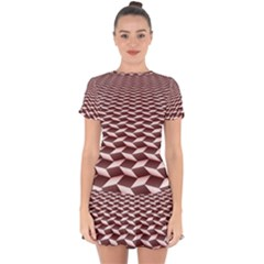Graphics Geometric Paul Background Drop Hem Mini Chiffon Dress by Wegoenart
