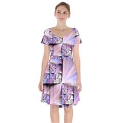 Fractal Art Artwork Digital Art Short Sleeve Bardot Dress by Wegoenart