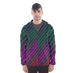 Background Texture Pattern Hooded Windbreaker (men) by Wegoenart