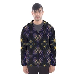 Seamless Background Abstract Vector Hooded Windbreaker (men)