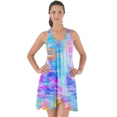 Background Drips Fluid Colorful Show Some Back Chiffon Dress by Wegoenart