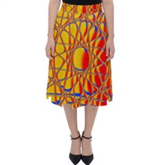 Graphic Design Graphic Design Classic Midi Skirt by Wegoenart