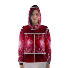 Christmas Candles Hooded Windbreaker (women) by Wegoenart