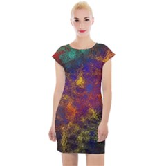 Pattern Background Wallpaper Cap Sleeve Bodycon Dress by Wegoenart