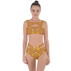 Abstract Fractal Pattern Washed Out Bandaged Up Bikini Set  by Wegoenart