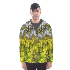 Fractal Mobius Dragon Marijuana Hooded Windbreaker (men)