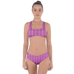 Circle Chic Pink Criss Cross Bikini Set by TimelessFashion