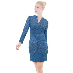 Beautifull Blue Button Long Sleeve Dress by TimelessFashion