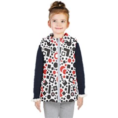 Black Versus Red Kids  Hooded Puffer Vest by TimelessFashion