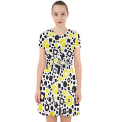 Black Versus Yellow Adorable In Chiffon Dress by TimelessFashion